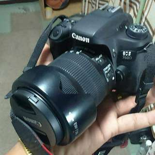 Dslr Canon 760d with 18-135 lense