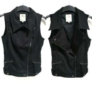 Jordache Zip Black Vest