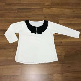 White ribbon top