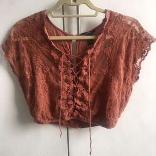 Forever 21 lace bohemian top