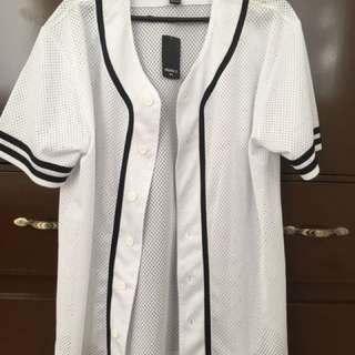 F21 Knit Shirt (White/Black)