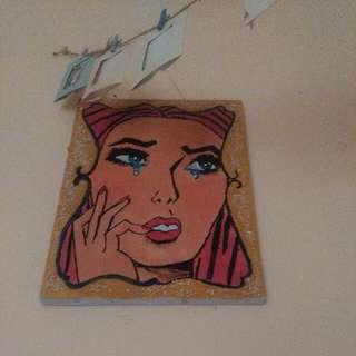 Pop art painting (lukisan akrilik)