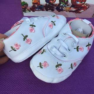 Baby Floral Fabric Shoes