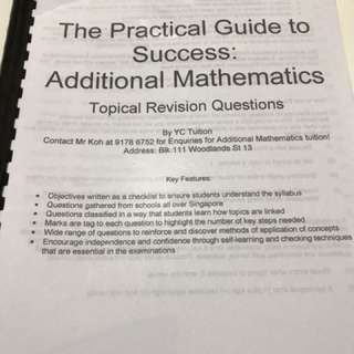 Amaths topical schools' exam questions (personal tuition material)