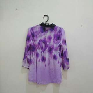 Blouse purple flower