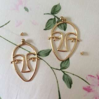 Unique Tumblr Face Earrings