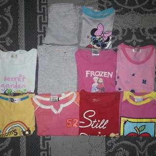 Girl Tshirts Size 4y - 5y COMBO SET