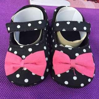 Polka dot Ribbon Fabric Shoes