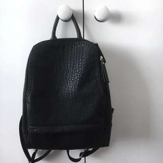 Urban Originals my way black leather style backpack