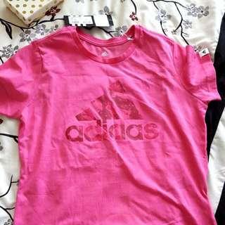 Girls pink Adidas shirt