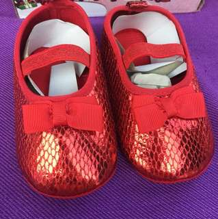Blink blink Red Fabric shoes