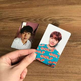 WTT/S LOVE YOURSELF JIN AND JHOPE PHOTOCARD