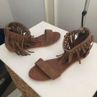 Never worn mollini brown sandals size 36