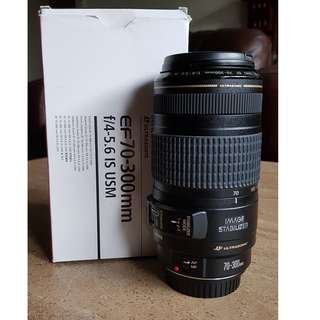 Canon EF70-300mm f/4-5.6 IS USM lens
