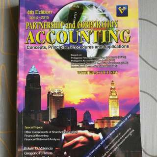 PARTNERSHIP AND CORPORATION ACCOUNTING BOOK (with practice set)