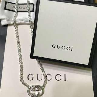 (100%全新正版)Gucci 925 頸鏈 (YBB19048900100U)