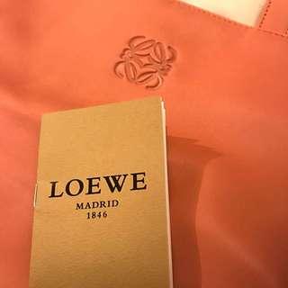 Loewe VEGA bag 香桃色超軟皮袋全新!