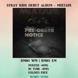 PRE-ORDER STRAY KIDS DEBUT ALBUM - MIXTAPE