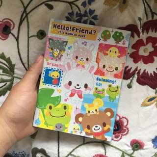 Openable 4 Section Cute Paper Notebook