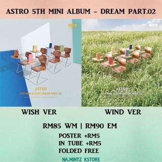 PRE-ORDER ASTRO 5TH MINI ALBUM - DREAM PART.02