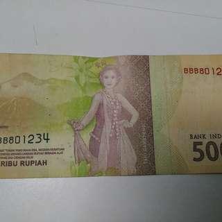 Uang Seri Unik Untuk Koleksi BBB 8 01234
