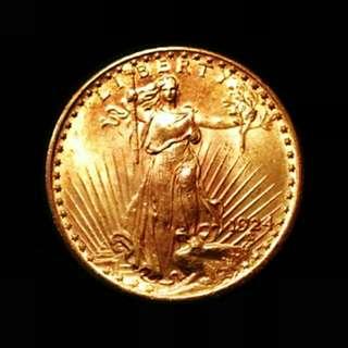 1924 St. Gaudens $20 Gold