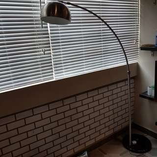 Cozy living room standing light w black marble