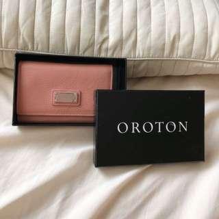 Oroton pink wallet