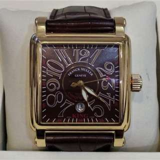 USED LIMITED EDITION FRANCK MULLER KING CONQUISTADOR CORTEZ RELIEF 10000 K SC AUTOMATIC 45MM FULL SET