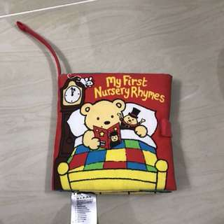 Soft nursery rhyme cloth book