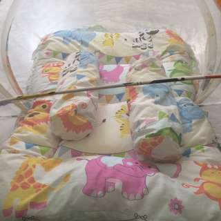 Baby bed with mosquitoes cover