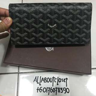 Customer's purchased. Goyard Long Wallet