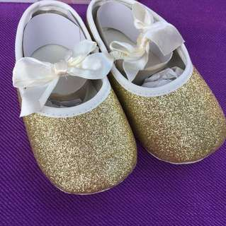 Golden Fabric Shoes