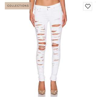 Rag and bone white thrasher ripped jeans size 27