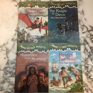 Magic Tree House Set of 4 Books 1-4