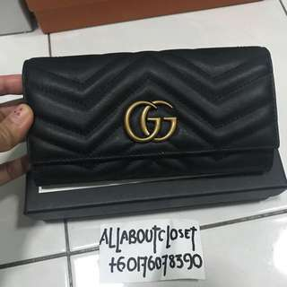 Customer's purchased. Gucci GG Marmont quilted wallet