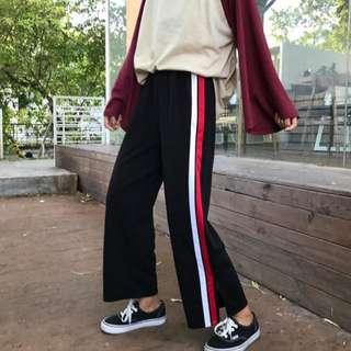 #097 long striped pants