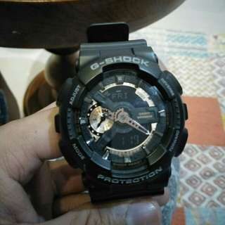 GShock Black Ori Normal Mulus