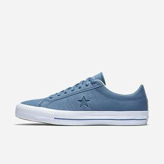converse one star pro ox canvas blue