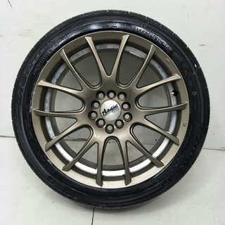 17 '' Sport Rim With Tyre 5x100 5x114.3 ( SR832)