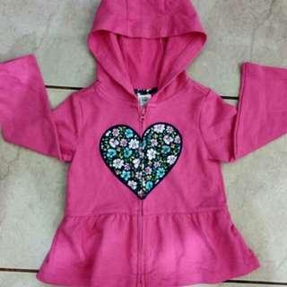 Carter's Girls' Heart Cardigan with Hood