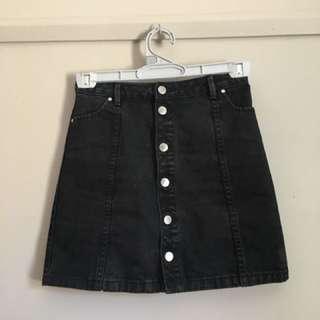Denim black a-line skirt (Forever new)