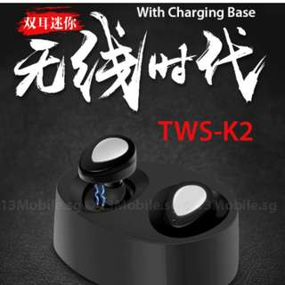 [NEW ARRIVAL] BN 2-pcs Wireless Earpiece TWS-K2 with Charging Base & Bluetooth - LASTING