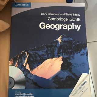 Geography cambridge IGCSE