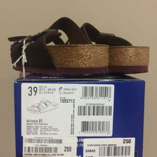 Birkenstock Amazon Dark Brown Size 39 (Setara Size 41-42) Made in Germany