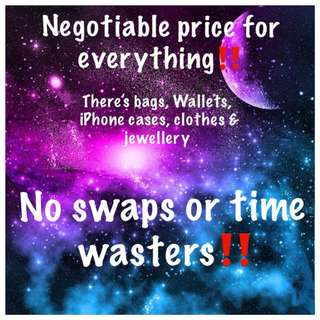 Negotiable prices for everything and deals