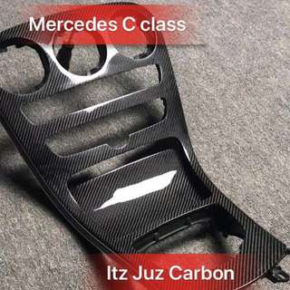 (Ready stock)Mercedes C Class Carbon console panel