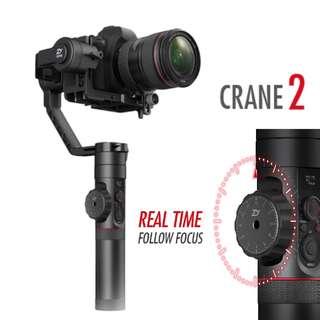 🛒ZHIYUN CRANE 2 Gimbal Stabilizer With Follow Focus for DSLR & Mirrorless Camera
