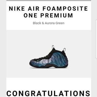 WTS Nike Foamposite One Oremium UK8