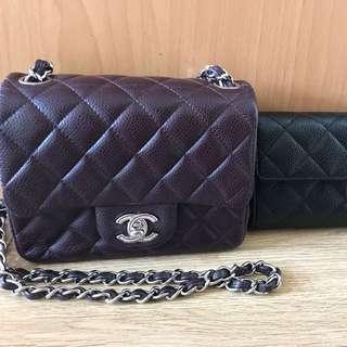 紫啡17cm scqure Chanel mini罕有色